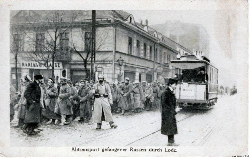 Łódż, transport jeńców rosyjskich